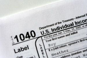 IRS 1040 Close up