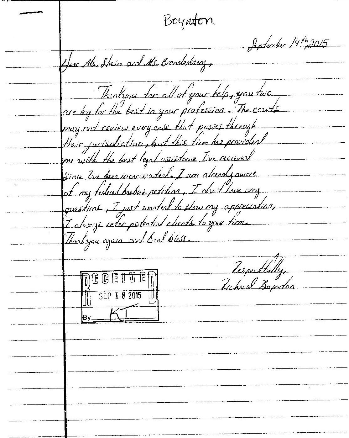 Appreciation letter from client page 001 federal criminal law center appreciation letter from client thecheapjerseys Gallery