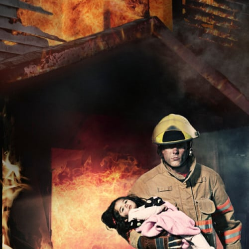 Fireman Rescuing Child