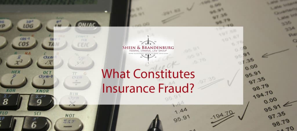 Featured image for a blog article about insurance fraud. Image features a calculator and bank statement with notes made in ink.